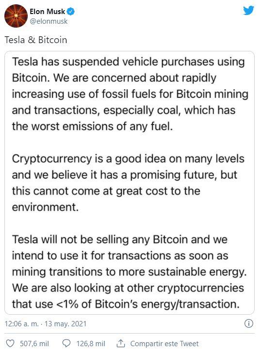 tuit Elon Musk Bitcoin