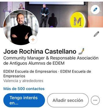 perfil de LinkedIn Jose Rochina